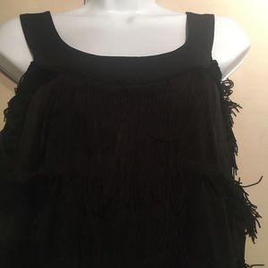 Donna Morgan black flapper dress